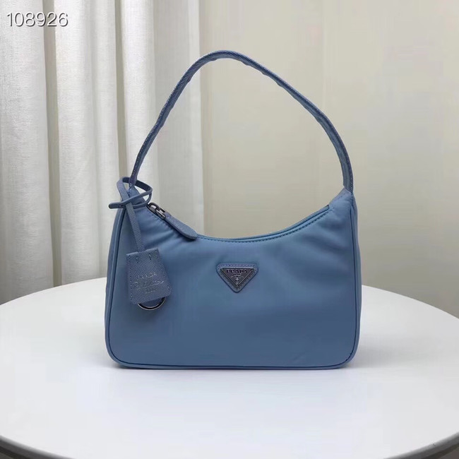Prada Re-Edition 2000 nylon mini-bag 1NE515 light blue