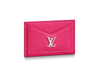 Louis vuitton original LOCKME CARD HOLDER M68555 Hot Pink