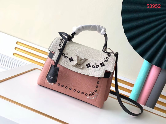 Louis vuitton original LOCKME EVER BB M53937 pink&white
