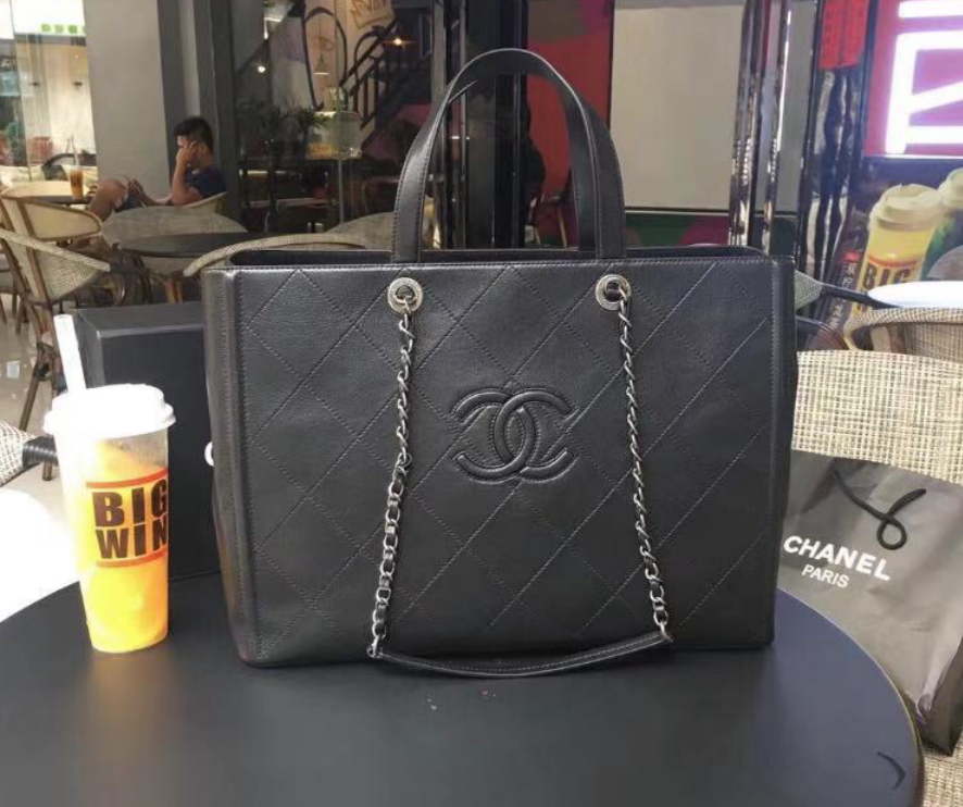 Chanel Original Calfskin leather Shoulder Bag 55087 black