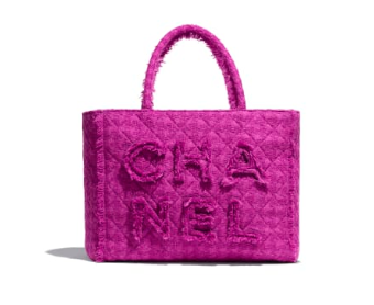 Chanel Zipper shopping bag AS0976 Purplish