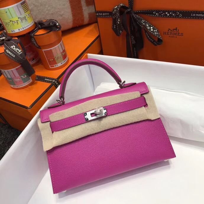 Hermes Kelly Tote Bag Original epsom Leather KL20 Pink