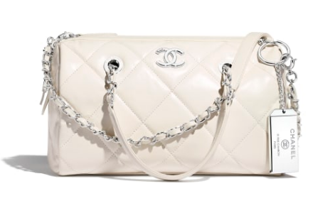 Chanel Bowling Bag AS1321 white