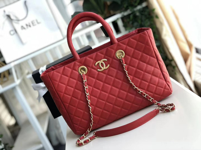 Chanel Original large shopping bag Grained Calfskin A93525 red