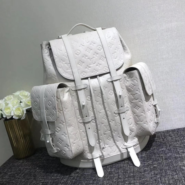 Louis Vuitton CHRISTOPHER Large backpack M53285 white