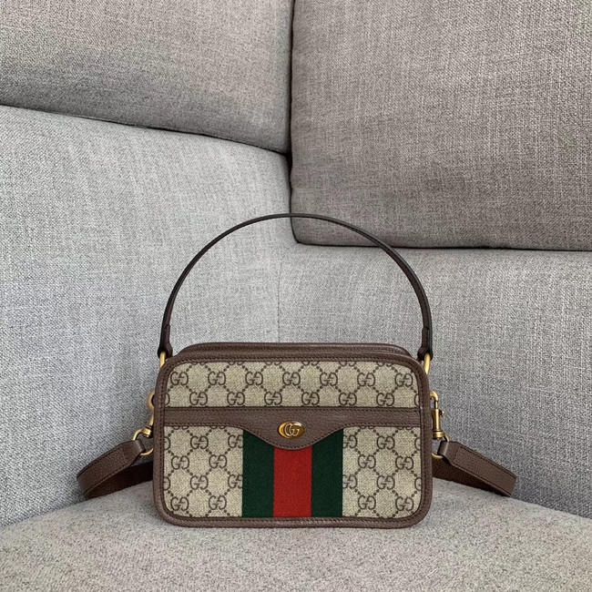 Gucci Ophidia small GG tote bag 598130 brown