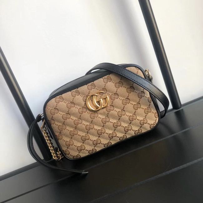 Gucci GG Marmont canvas mini Bag 448065 Black