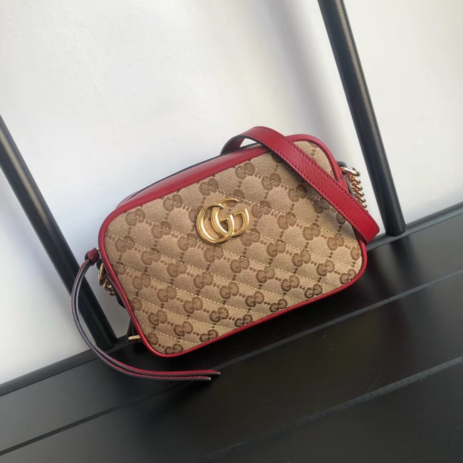 Gucci GG Marmont canvas mini Bag 448065 red