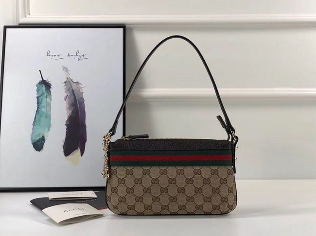 Gucci Ophidia small GG tote bag 145970 brown