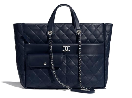 CHANEL Large zip shopping bag AS1300 black