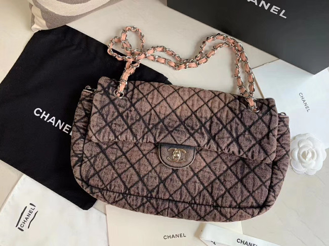CHANEL Denim flap bag AS1113 pink