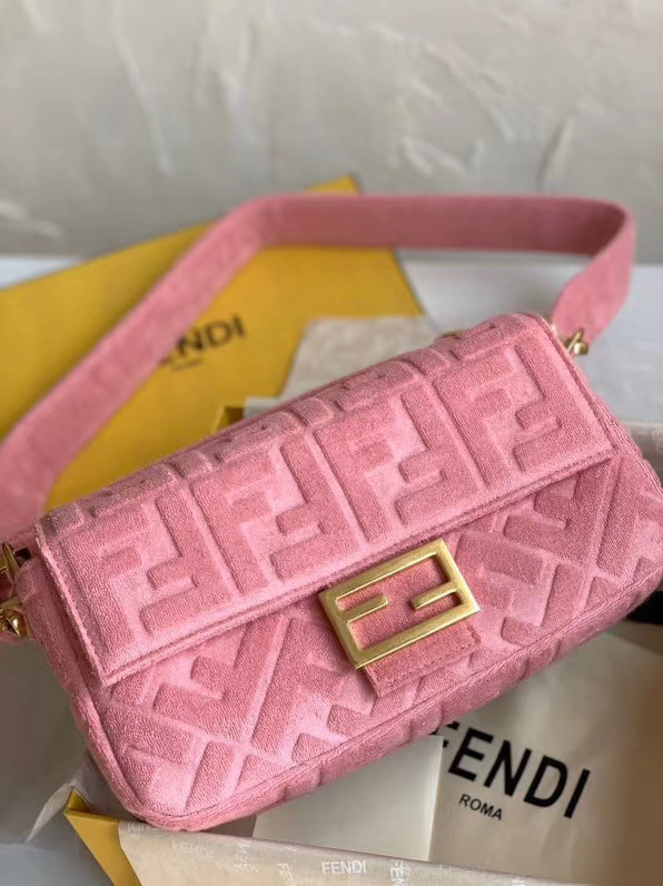 FENDI BAGUETTE Shoulder Bag 8BR771A pink