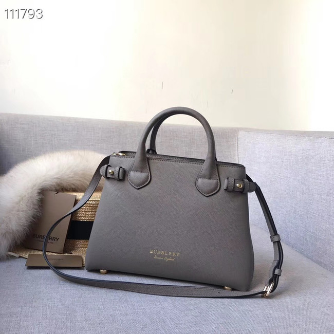 BurBerry Leather Tote Bag 7461 grey