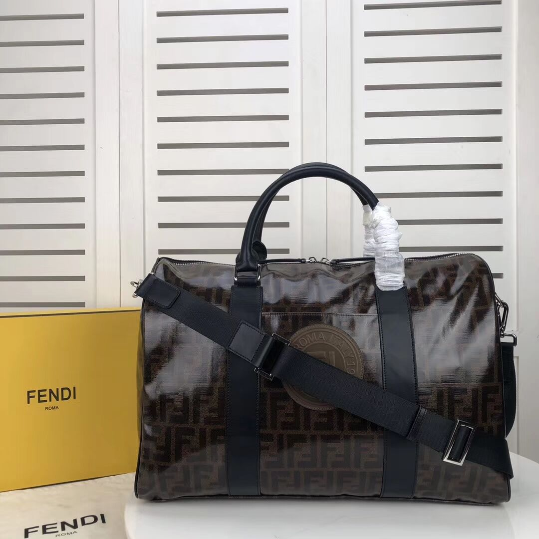 FENDI Travelling bag F7012 dark brown
