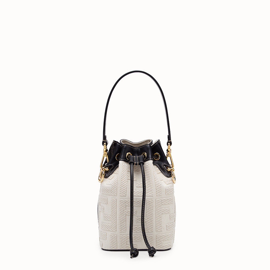 FENDI MON TRESOR Mini bag in beige canvas 8BS010