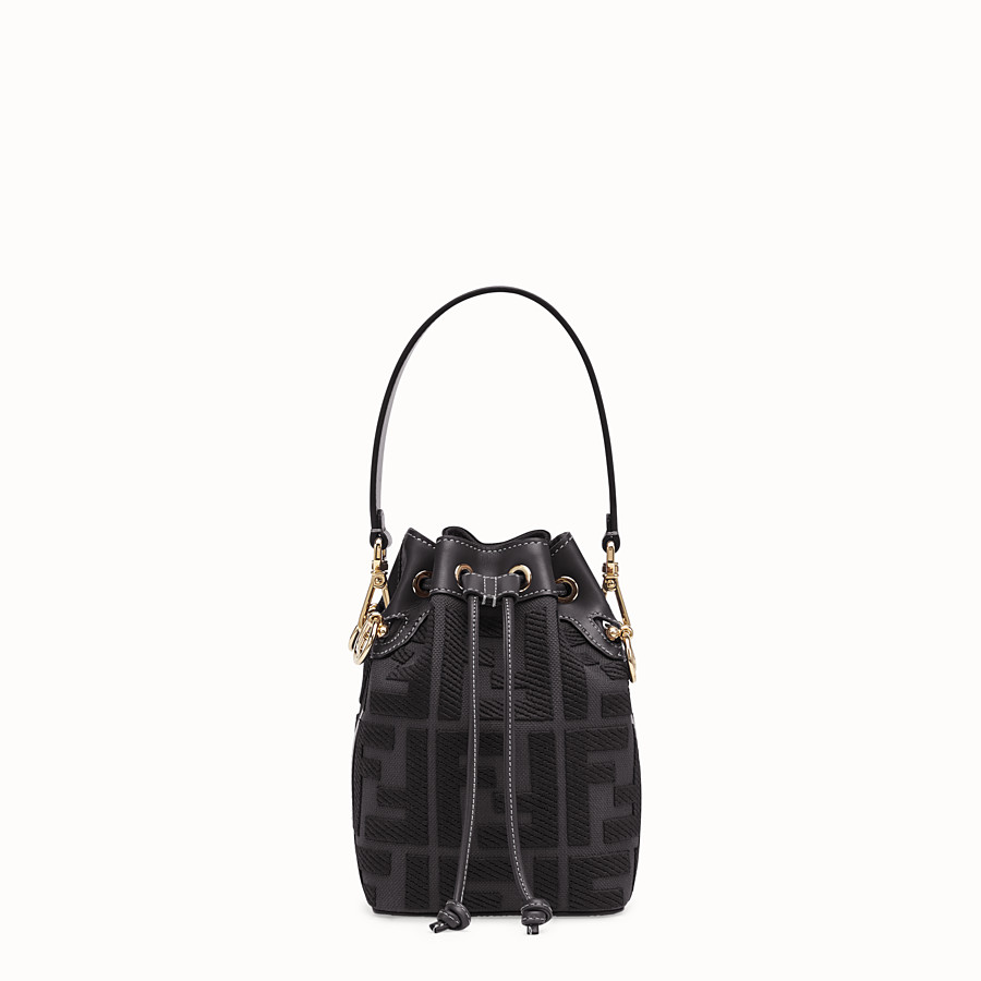 FENDI MON TRESOR Mini bag in black canvas 8BS010