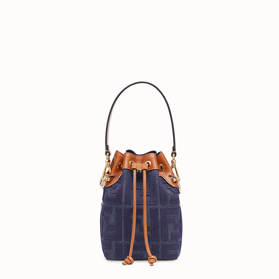 FENDI MON TRESOR Mini bag in blue canvas 8BS010