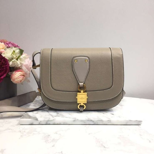 VALENTINO Origianl leather shoulder bag 0705 grey
