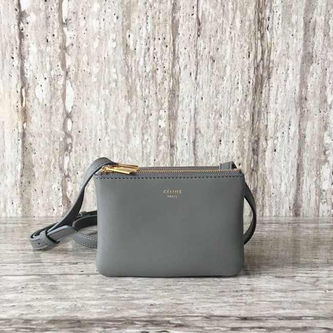 Celine TRIO BAG IN SMOOTH LAMBSKIN MINI 1920 grey