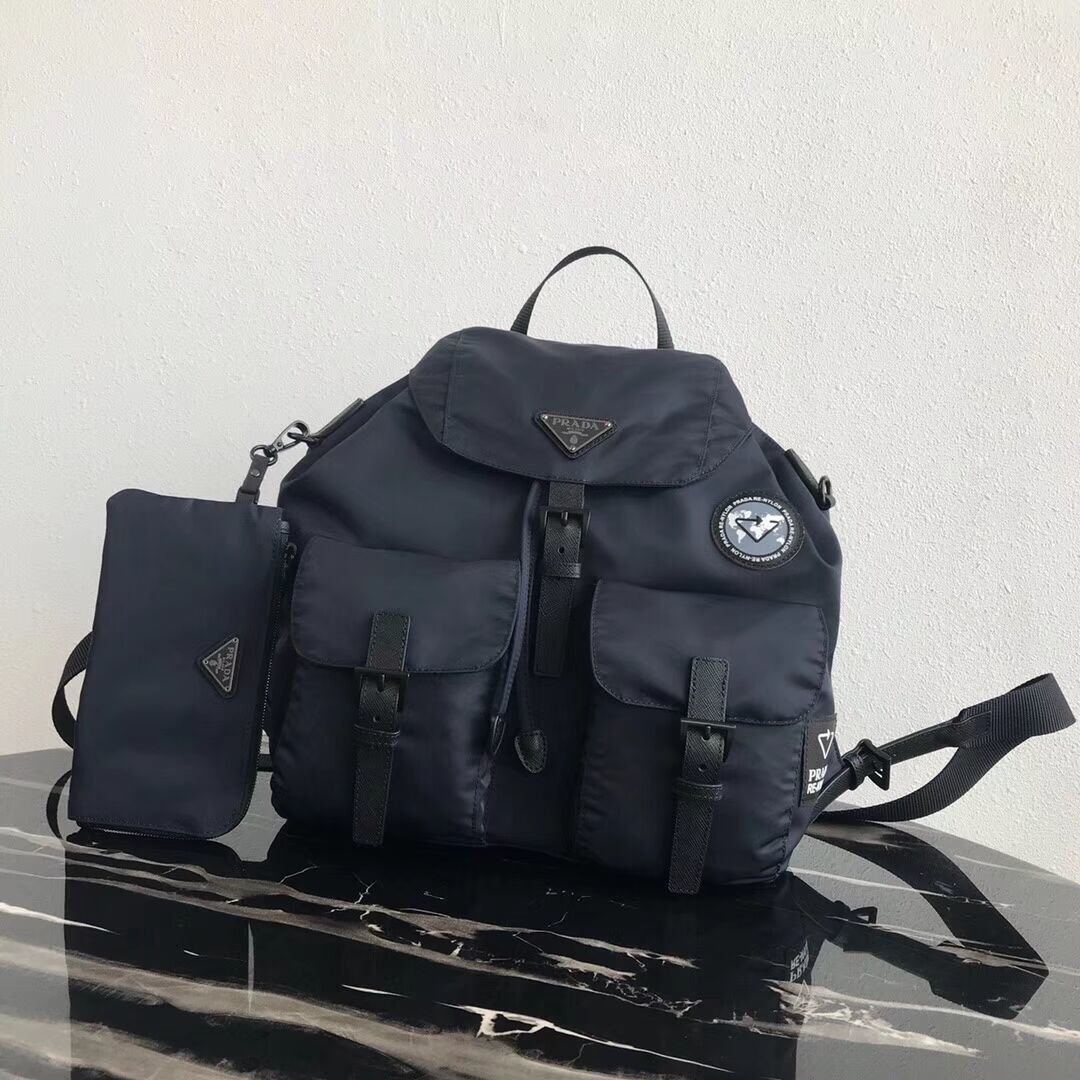 Prada Re-Nylon backpack 1BZ811 black&grey