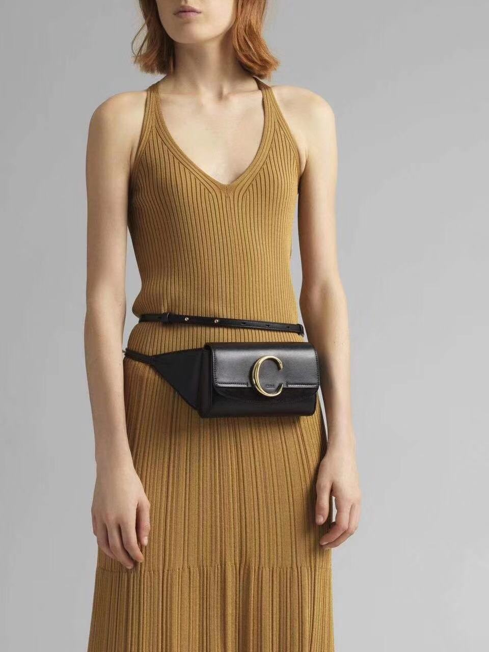 Chloe Original Leather Belt Bag 3S036 black