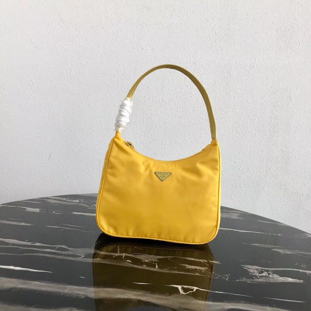 Prada Re-Edition nylon Tote bag MV519 yellow