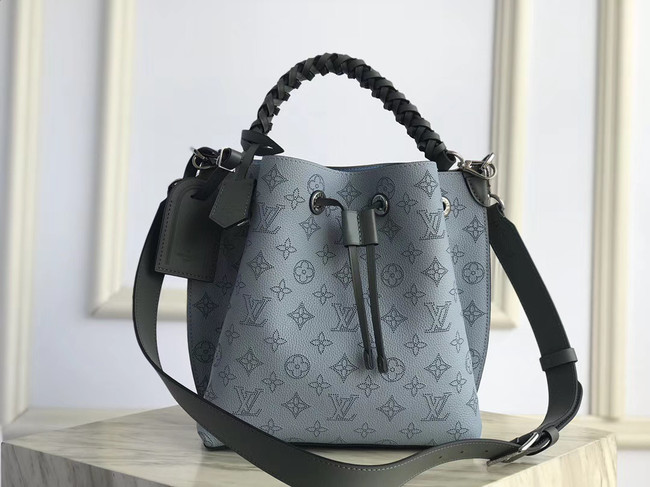 Louis Vuitton original Mahina Leather MURIA M55800 blue