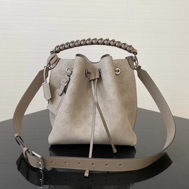 Louis Vuitton original Mahina Leather MURIA M55800 grey