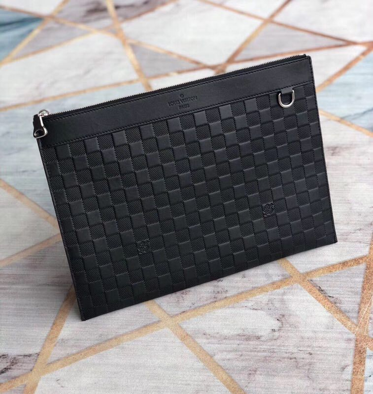 Louis Vuitton Damier Graphite Canvas DISCOVERY POCHETTE N41696 Black