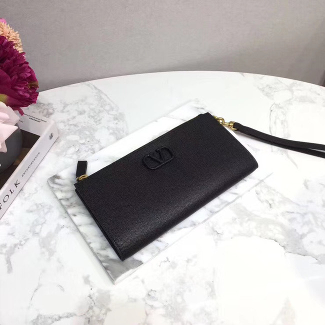 VALENTINO Origianl leather 060 Clutch bag black