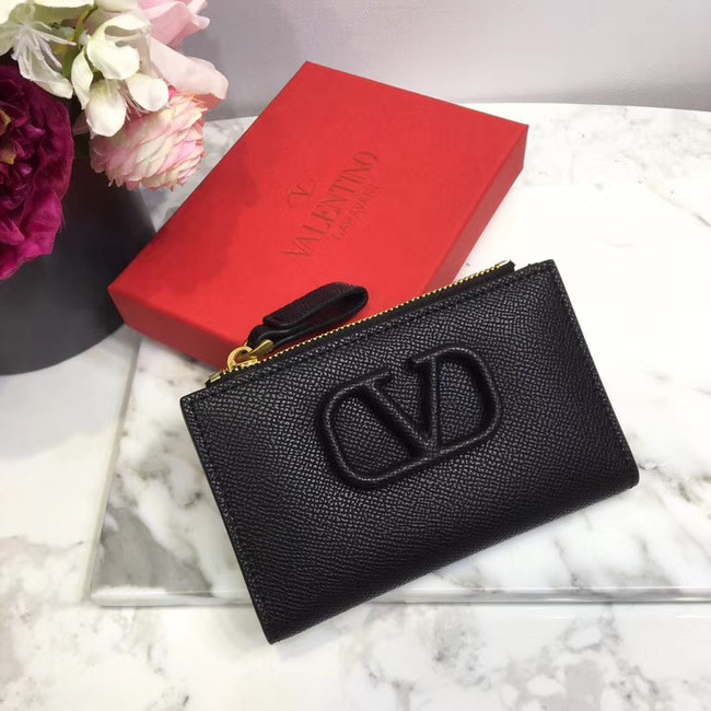 VALENTINO Origianl leather Card Holder 066 black