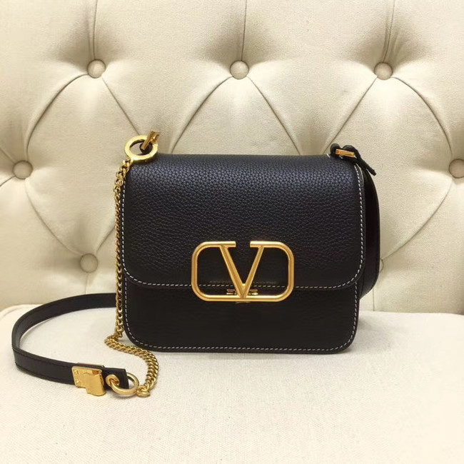 VALENTINO VLOCK Origianl leather shoulder bag 0905 black