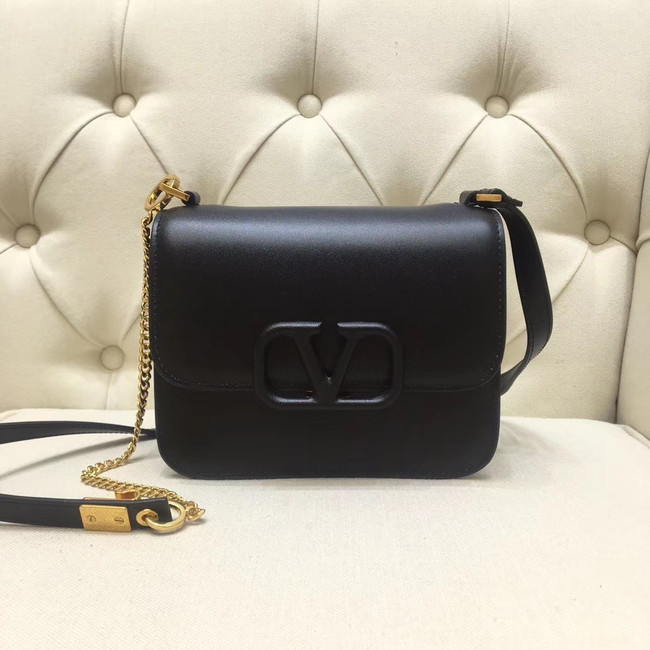 VALENTINO VLOCK Origianl leather shoulder bag 0906 black