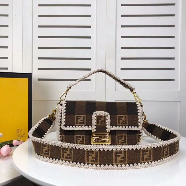 FENDI fabric bag 8BR033 Coffee