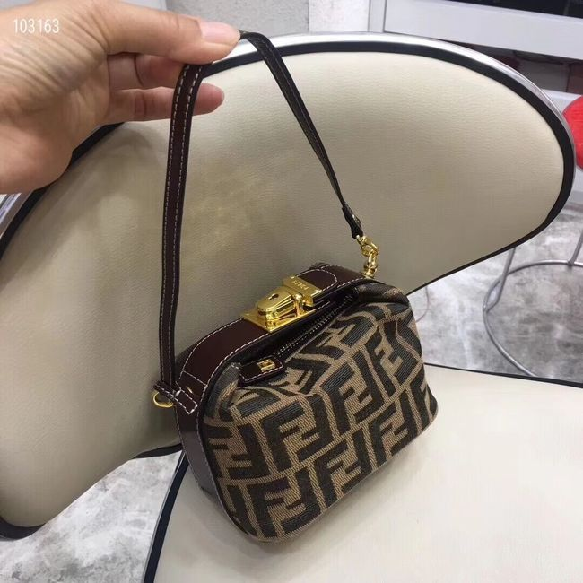 FENDI mini fabric bag 8BR051 brown