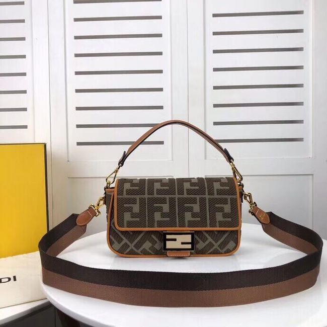 FENDI fabric bag F0386 Blackish green