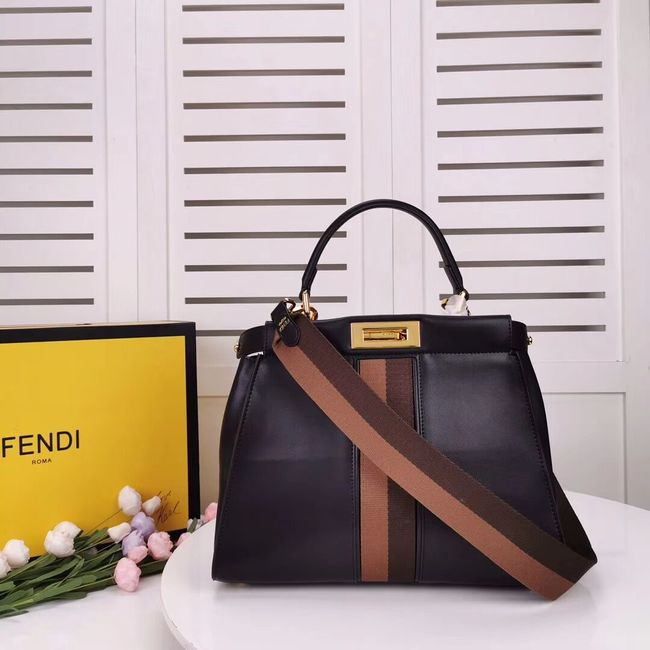 FENDI PEEKABOO ICONIC leather bag F0826 black