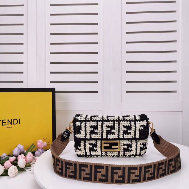 FENDI fabric bag F0904 black