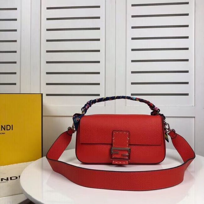 Fendi BAGUETTE leather bag F2466 red