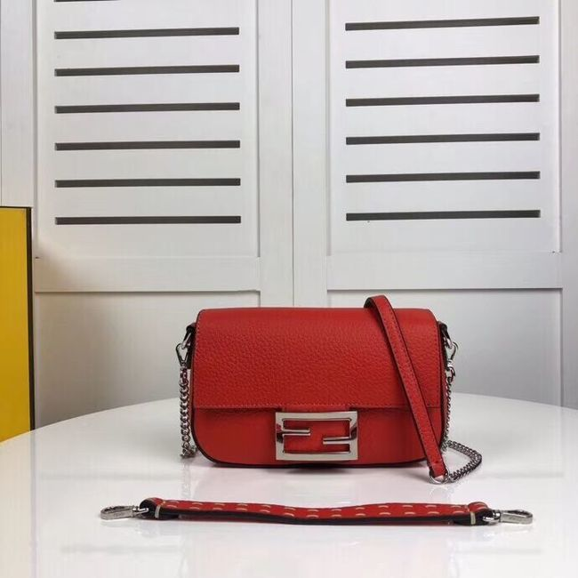 Fendi BAGUETTE leather bag F2467 red