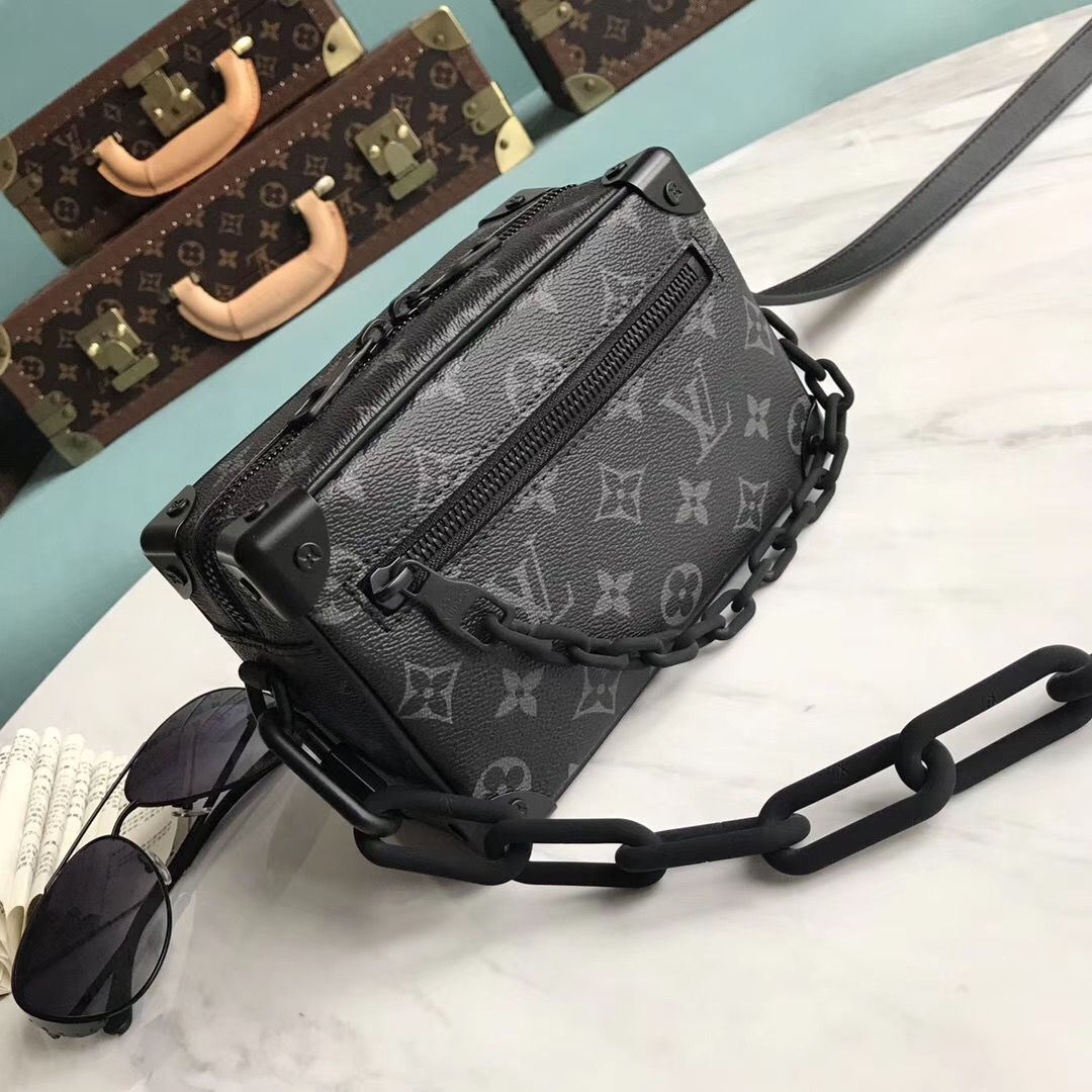 Louis Vuitton Monogram Canvas Original Leather Mini Soft Trunk M44480 Black