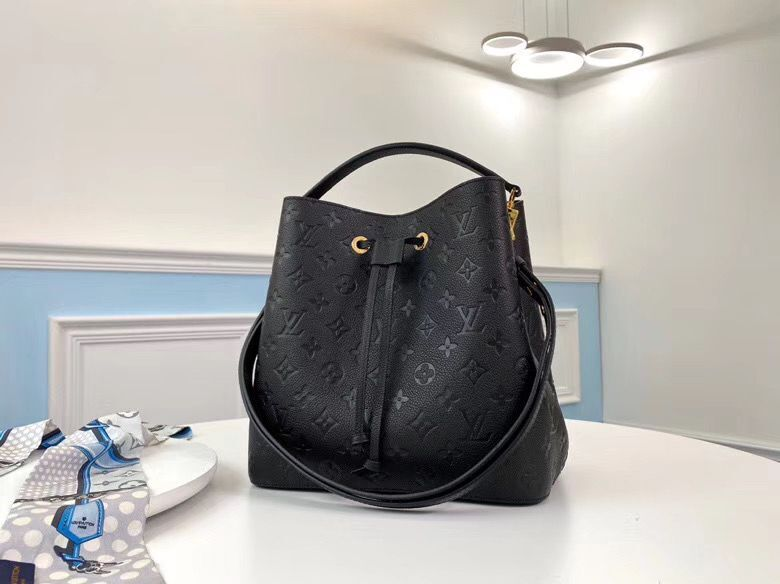 Louis Vuitton Monogram Empreinte Neonoe Original Leather M45256 Black