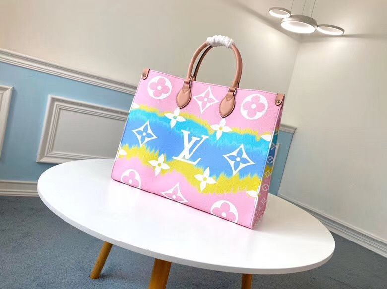 Louis Vuitton ONTHEGO Original Leather Escale Bag M45119 Pink&Blue