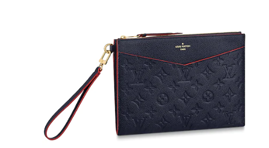 Louis Vuitton Original Monogram Empreinte Clutch bag MELANIE M68705 Navy blue