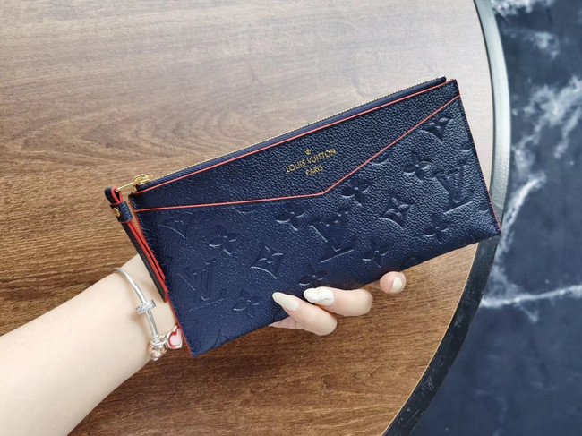 Louis Vuitton Original Monogram Empreinte Wallet M68712 Navy Blue