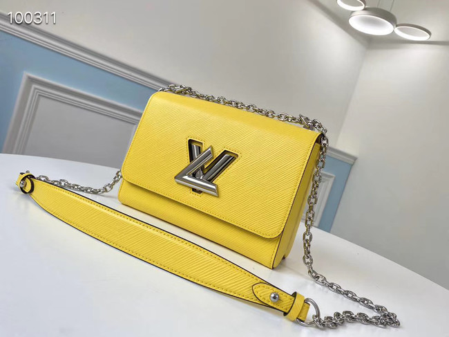 Louis vuitton original epi leather TWIST MM M66119 yellow