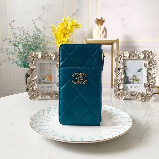 CHANEL 19 Mobile phone case Card Holder AP1182 blue