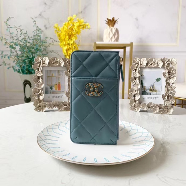 CHANEL 19 Mobile phone case Card Holder AP1182 sky blue