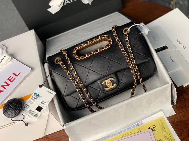 Chanel Flap Bag Original Sheepskin Leather AS1466 black