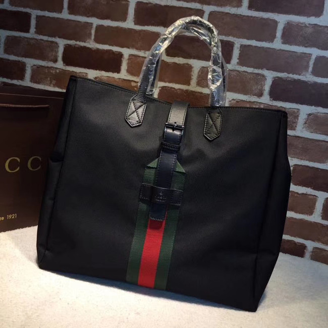 Gucci GG Supreme canvas top handle bag 337069 black